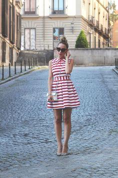White and Red Striped viamyshowroomblog