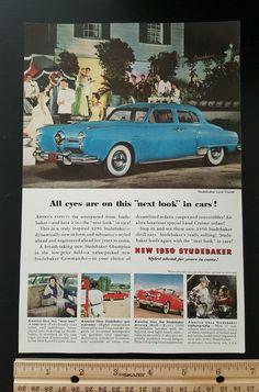 Old 1950 Studebaker Land Cruiser sedan Car vintage magazine print ad SLOT 11