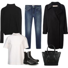 """Black"" by feryfery on Polyvore"