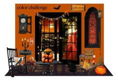 """""""Orange and Black"""" by catyravenwood ❤ liked on Polyvore featuring interior, interiors, interior design, home, home decor, interior decorating, John Timberland, Occa Maison, John Lewis and Pier 1 Imports"""