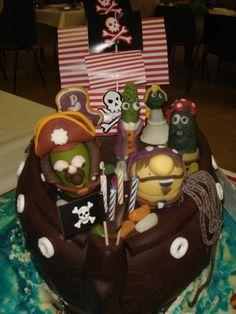 veggie tale birthday cake