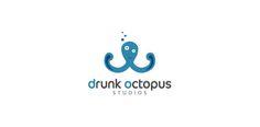 Double concept logo design: Drunk Octopus Studios