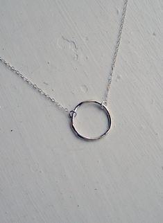 Silver Circle Necklace Bridesmaid Jewelry Eternity Karma Necklace Minimalist Jewelry via Etsy