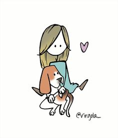 Little Doll, Little Girls, Illustration Girl, Girl Illustrations, Number Two, Medieval Art, Cute Wallpapers, Art History, Dogs And Puppies