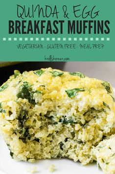 Egg Breakfast Muffins Quinoa Egg Muffins are vegetarian, gluten-free and perfect for an on the go breakfast. This is a great breakfast option since it is high in protein and a great way to use up any leftover quinoa from dinner the night before! Quinoa Recipes Easy, Healthy Breakfast Recipes, Brunch Recipes, Vegetarian Recipes, Cooking Recipes, Healthy Recipes, Ketogenic Recipes, Vegetarian Breakfast, Quinoa For Breakfast