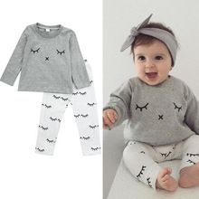 http://babyclothes.fashiongarments.biz/  Fashion Newborn Infant Girls Cartoon Eyes Outfits Tops Gray T-shirt + Cotton Pants Kids Clothes Sets, http://babyclothes.fashiongarments.biz/products/fashion-newborn-infant-girls-cartoon-eyes-outfits-tops-gray-t-shirt-cotton-pants-kids-clothes-sets/,   Description  Brand NEW with High quality  Type:  2016 Fashion Baby 2Pcs Outfits  Color :Show as the pictures Material: 100%…