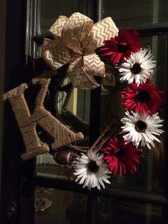 Alabama football wreath ❤️