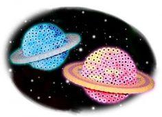 3D Saturn - Cosmos perler bead pattern