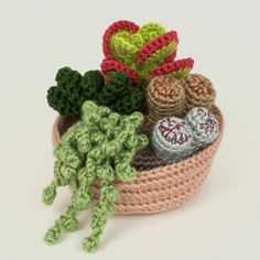 Succulent Collections 1 and 2 - EIGHT crochet patterns : PlanetJune Shop, cute and realistic crochet patterns & more