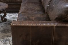 Gorgeous chocolate brown color distressed sectional with comfort and great style. Excellent craftsmanship and made in the U. Sectional Sofa With Recliner, W 6, Home Living Room, Home Furnishings, Track, Chocolate, Leather, Color, Home Decor