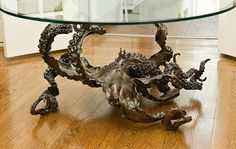 OCTOPUS TABLE bronze table by Kirk McGuire by KirkMcGuireSculpture, $26000.00