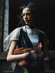 Vogue Rússia Março 2015   Mina Cvetković por Nathaniel Goldberg [Editorial]