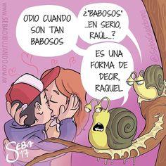 Babosos.  De  @sebaguidobono  #pelaeldiente  #comics #caricaturas #viñetas #graphicdesign #funny #art #ilustración #dibujos #humor #artistas #creatividad #illustrator #painting #feliz #artwork #draw #diseño #doodle #cartoon #amor #sonrisa