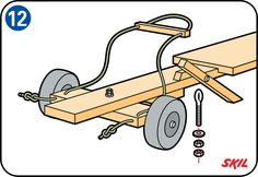 Do you want to take part in soapbox cart races? Or just make a soapbox cart for your children? Read how to build your soapbox cart step-by-step here. Woodworking Courses, Woodworking School, Learn Woodworking, Wooden Toy Cars, Wood Toys, Kids Ride On Toys, Toys For Boys, Kids Go Cart, Wooden Go Kart