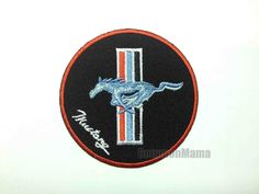 Ford Mustang Motor Car Iron on Sew Applique Embroidered Patch   eBay