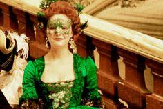 Adore this ensemble from Sofia Coppola's Marie Antoinette. Green is SO gorgeous