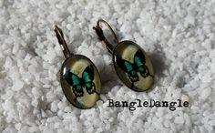 Kolczyki motylki - wspomnienie lata - BangleDangle - Kolczyki wiszące