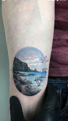 Blue Diamond Tattoo Lovely Children Of Lir Tattoo by Eva Krbdk Tattoom istanbul Mini Tattoos, Circle Tattoos, Dream Tattoos, Sexy Tattoos, Small Tattoos, Cool Tattoos, Tatoos, Scenic Tattoo, Bridge Tattoo