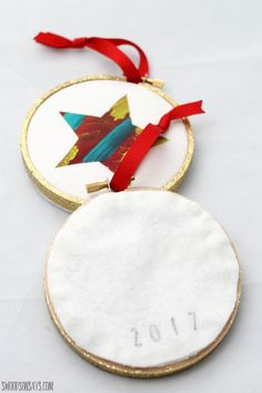 Christmas Ornament that Toddlers Can Help Make - Swoodson Says
