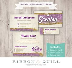 71 best thirty one scentsy business cards images on pinterest authorized scentsy vendor scentsy business bundle glam magic style business card bc thank you label sticker digital file only reheart Choice Image
