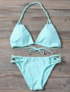 Shop trendy fashion swimwear online, you can get sexy bikinis, swimsuits & bathing suits for women on ZAFUL. Bikini Swimwear, Bikini Set, Swimsuits, Plunge Bikini, Strap Bikini, Zaful Bikinis, Bikini Photos, Bra Styles, Bikini Models
