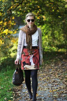 Outfitpost: Mit dem Fuchs-Rock im Goldenen Herbst   Lady-Blog #denordecce #autumn #preppy