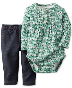 Carter's Baby Girls' 2-Piece Bodysuit & Pants Set - Kids Baby Girl (0-24 months) - Macy's