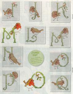 alfabeto passarinho