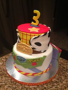 Woody/Buzz lightyear cake