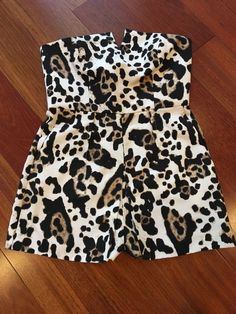04685922f332 Top Shop Romper Animal Print Sz 6 US  fashion  clothing  shoes  accessories   womensclothing  jumpsuitsrompers  ad (ebay link)