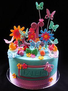 Magical garden cake