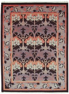 Fintona 9x12 Voysey Design Rug. I'm not crazy about the colors, but it is a period design and it's pretty cheap for hand-knotted. $2439.