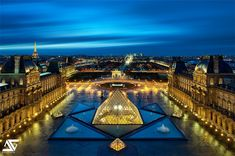 Paris from Louvre @ Blue Hour | ON HDRLABS - JANUARY 2014 T… | Flickr - Photo Sharing!
