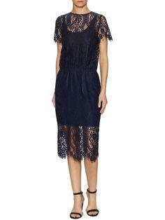 Vivid Lace Midi Dress by Stylestalker at Gilt