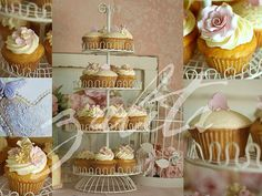 shabby chic weddings | shabby chic wedding cupcakes
