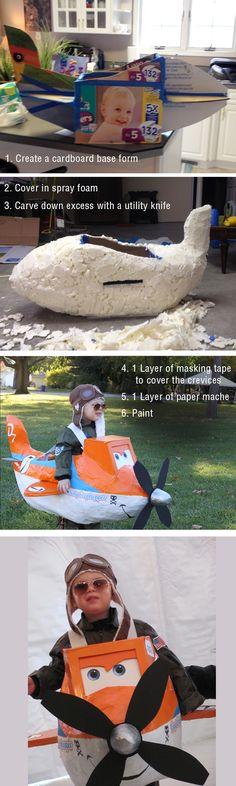 Cómo se hace el disfraz de polvoriento Crophopper (avión Disney) - Planes Dusty Crophopper Costume How-To