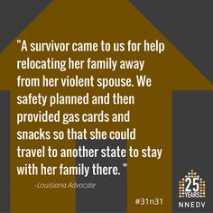 provided gas cards and snacks so that she could travel to another state to stay with her family there. Domestic Violence, Louisiana, October, Facts, How To Plan, Travel, Life, Viajes, Traveling