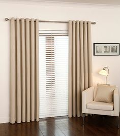 Natural and Gold Curtains Sunbar Blackout Natural Room, Blackout Curtains, Fabric Bed, Gold Curtains, Living Room Diy, Home Decor, Curtains, Home Focus, Spare Room