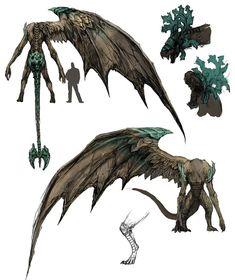 Bell Gargoyle - Pictures & Characters Art - Dark Souls