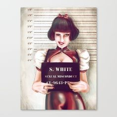 Snow white Canvas Print by Adroverart. Worldwide shipping available at Society6.com. Just one of millions of high quality products available.