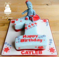 Number 1 cake. In the night garden cake. IGGLE PIGGLE cake