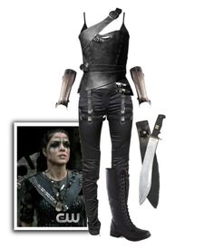 """""""Octavia Blake - The 100"""" by gone-girl ❤ liked on Polyvore featuring New Look and Balmain"""