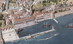 Gorgeous Images Reconstruct Constantinople From To Century Architecture is actually a Costly Sections! Architecture Byzantine, Architecture Antique, Historical Architecture, Roman Architecture, Battle Of Adrianople, Monuments, Roman City, Age Of Empires, Medieval World
