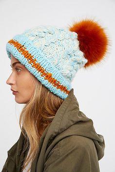 7c337da18a9 Beanies and Cozy Knit Hats  Happy Trails Stripe Pom Beanie Knit Beanie