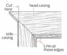 When the side trim on your windows has to be narrower than the head casing, here's how to make mitered joints.