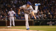 October 18, 2017:  NLCS Game 4: Cubs-Dodgers.   Dodgers starting pitcher Alex Wood (57) delivers to the Cubs in the first inning.