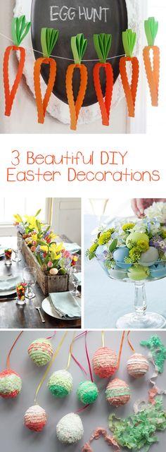 3 Beautiful DIY Easter Decorations