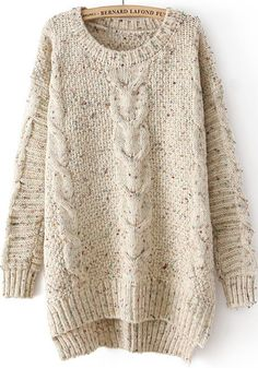 Women's Round Neck Hemp Flowers Long Sleeve Knit Pullover Sweater Save up to Off at Light in the Box using coupon and Promo Codes. Loose Sweater, Cable Knit Sweaters, Long Sleeve Sweater, Pullover Sweaters, Chunky Sweaters, Brown Sweater, Long Jumpers, Cooler Look, Cozy Sweaters