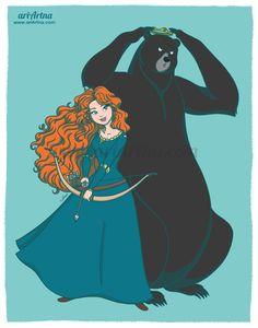 Brave, princess Merida - Disney fan art collection by ariartna.deviantart.com on @DeviantArt