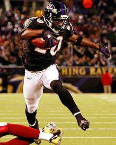 You don't see a defensive player running with the ball as much as Ed Reed. Way to lead the NFL in INTs!!